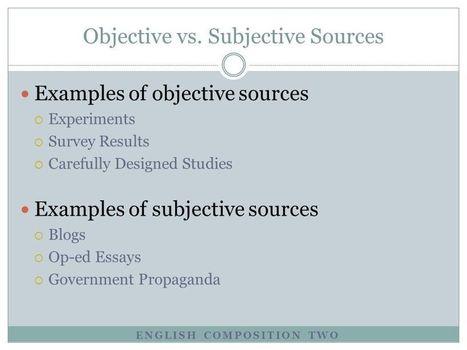 Objective Vs Subjective Essays Fortauboupercu