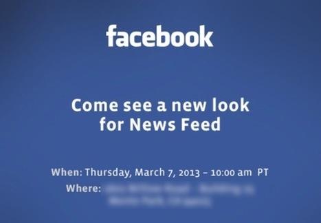 Facebook : Lors de la conférence du 7 mars, le nouveau design sera présenté | Marketing & Réseaux sociaux | Scoop.it