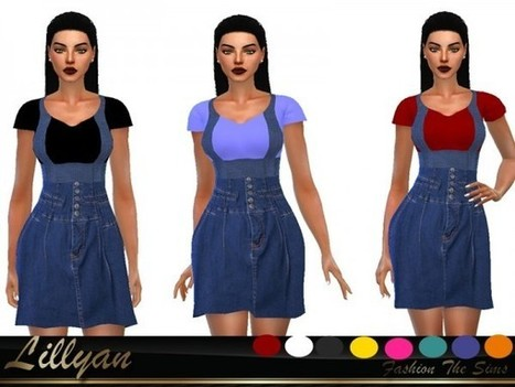 14eff389c31 The Sims Resource  Style fashion dress by Lillyan