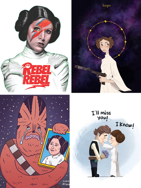 #Artists Pay #Homage to the #Legendary #CarrieFisher | Luby Art | Scoop.it