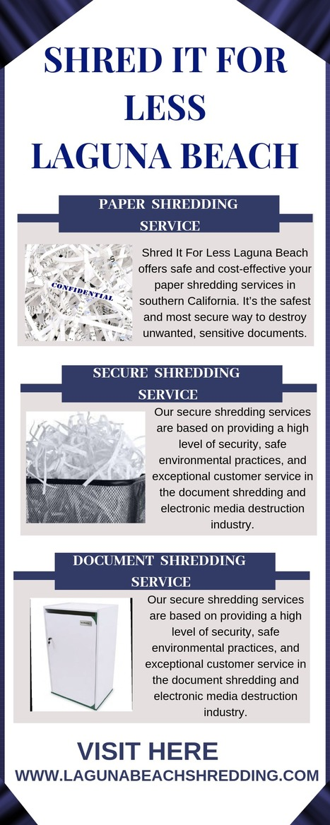 Shred Paper Services | Shred It For Less Laguna