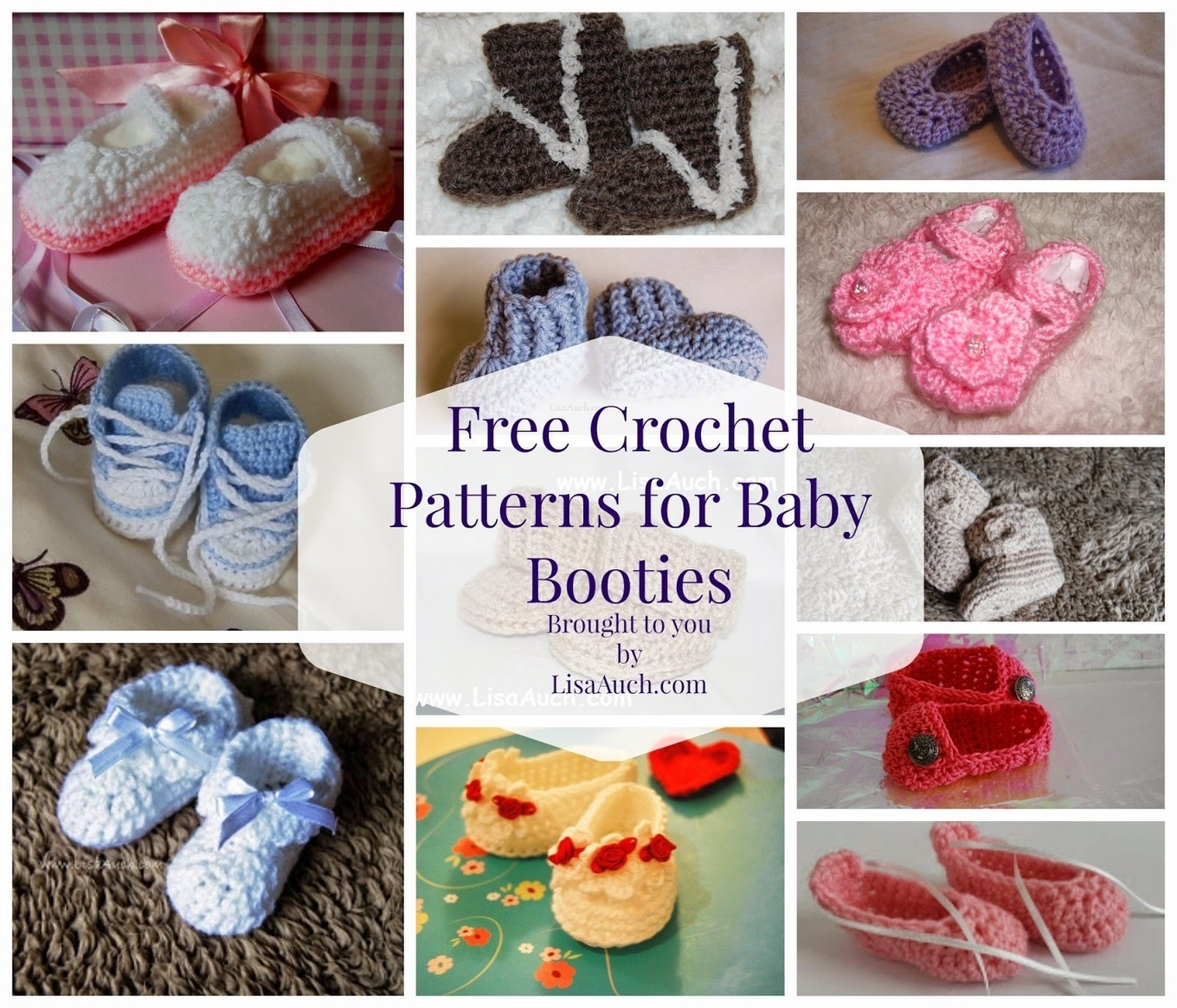 Amigurumi Baby Booties Free Pattern : Free Crochet Patterns and Designs by LisaAuch: