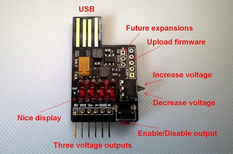 USBminiPower USB Power Supply Delivers 3 Outputs: 5V, 3.3V, and a Variable Output up to 14.3V (Crowdfunding) | Embedded Systems News | Scoop.it