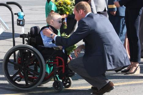 Prince William and Kate depart Yellowknife, #YZF #NWT - boy in a wheelchair | NWT News | Scoop.it
