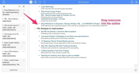 Organizing Research with Diigo Outliner | Web tools to support inquiry based learning | Scoop.it