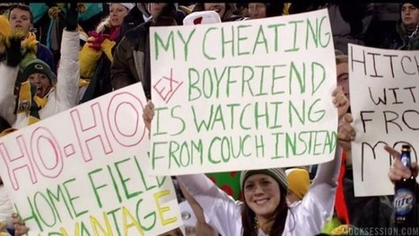 Best fan sign of the year: Packers fan uses game tickets to get back at cheating ex | Xposed | Scoop.it
