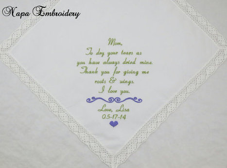 embroidered handkerchiefs wedding mother wedding gifts for mom of the bride embroidered handkerchiefs personalized parents mother bride groom napa embroidery