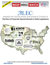 ALEC: The Voice of Corporate Special Interests In State Legislatures | People For the American Way | CP ALEC Intervention | Scoop.it