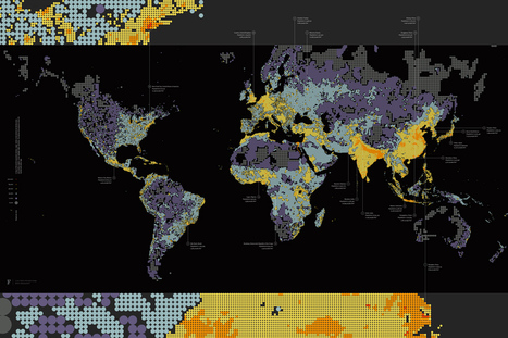A Map of Global Population Density - @infosthetics | Mapmakers | Scoop.it