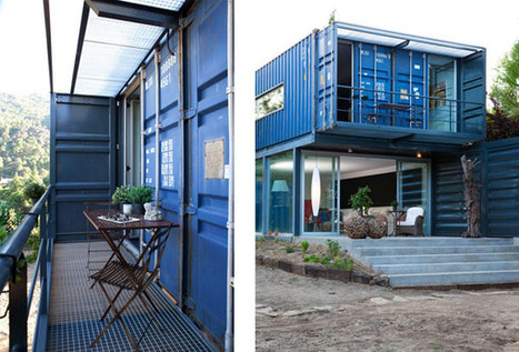 Incredible Modern Home Built Using Four Shipping Containers - Casa El Tiamblo | architecture, technology & business | Scoop.it