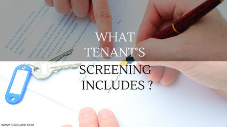 WHAT TENANT'S SCREENING INCLUDE'S ?   Circlapp - Real Estate Rental Services   Scoop.it