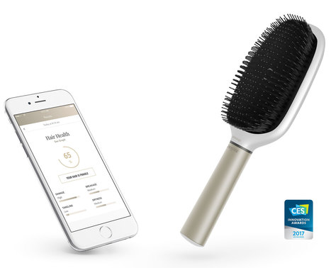 Kérastase Hair Coach, powered by Withings - The world's first smart hairbrush | Communication design | Scoop.it