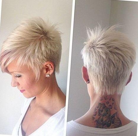 Kurzhaarfrisuren blond fransig
