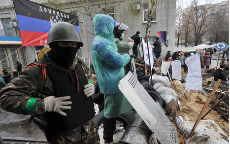 Gunfight breaks out in simmering east Ukraine, with fears of more  | Al Jazeera America | It Comes Undone-Think About It | Scoop.it