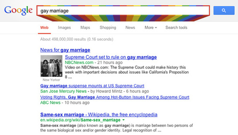 Google Search Adds Rainbow During LGBT Pride Month | Social Media LGBT | Scoop.it