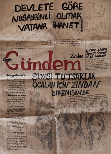 Turquie : des journalistes emprisonnées refont leur journal entièrement à la main. Magnifique ! | Emploi Métiers Presse Ecriture Design | Scoop.it
