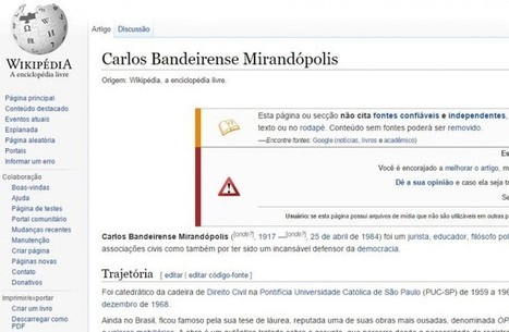 Un perfil falso en Wikipedia ya ha engañado a documentales, sentencias jurídicas y trabajos académicos | La red y lo social | Scoop.it