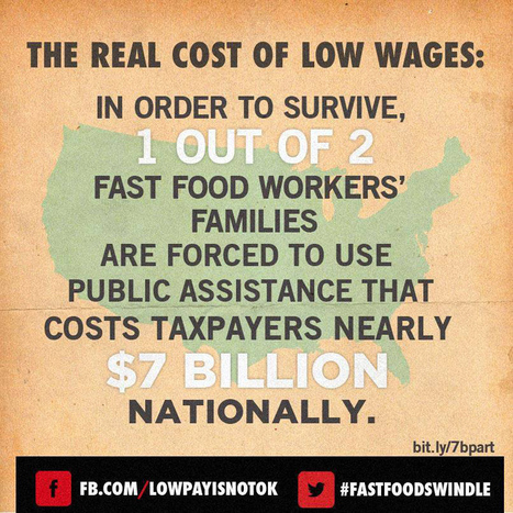 "CORPORATE PROFITS TRUMPS FAIR WAGES: More than half of U.S. fast food workers on public aid | Corporate ""Social"" Responsibility – #CSR #Sustainability #SocioEconomic #Community #Brands #Environment 