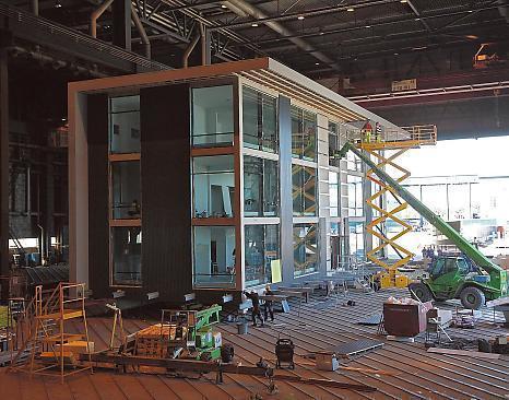Entire office building going up inside Turku shipyard hangar | Finland | Scoop.it