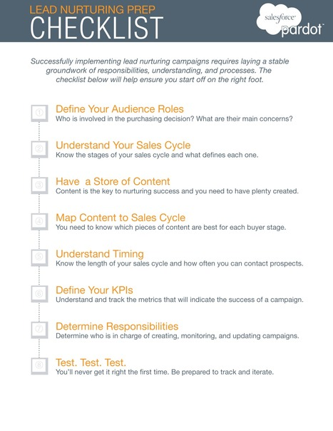 A Framework for Successful Lead Nurturing Campaigns #checklist - Pardot | #TheMarketingAutomationAlert | Social Media Information Updates | Scoop.it