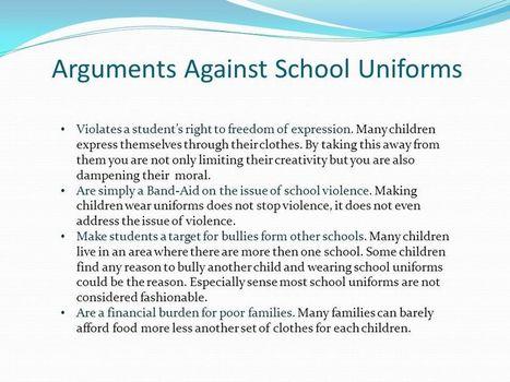 Charming message school uniform argument confirm