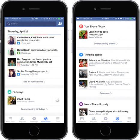 Facebook : lancement d'un nouveau hub de notifications enrichies | EASI-ie (intelligence économique et stratégique) | Scoop.it