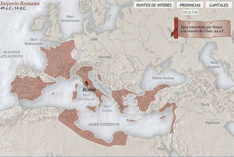 El imperio romano:  mapa interactivo | Historia y Mapas | Scoop.it