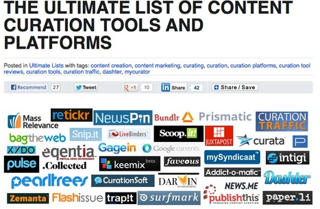 The Ultimate List of Content Curation Tools and Platforms | The Social Web | Scoop.it