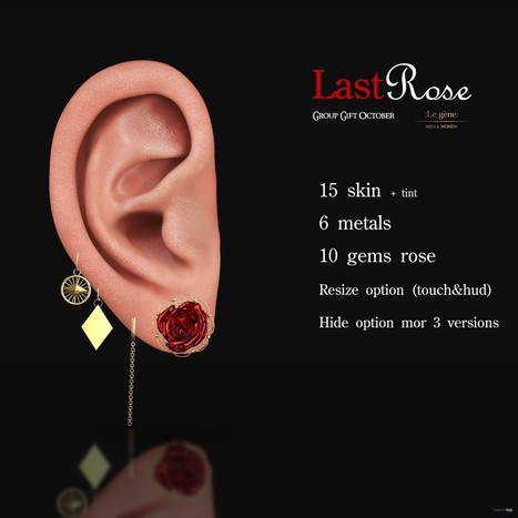 Last Rose Mesh Ears October 2018 Group Gift by