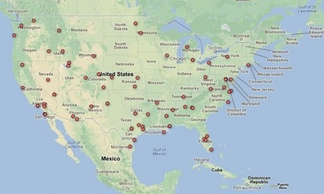 Live USA Map of Unmanned Drones released by EEF - SlashGear | Visualisation | Scoop.it