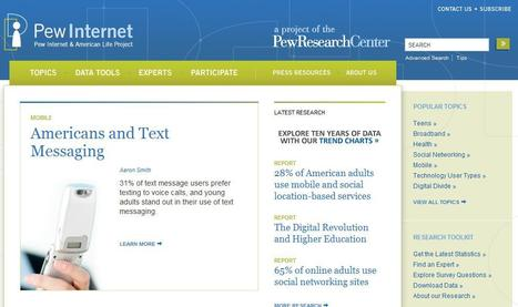 Pew Research Center's Internet & American Life Project | Top sites for journalists | Scoop.it