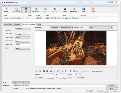 XMedia Recode : Convertir ses fichiers audio et vidéo | TICE & FLE | Scoop.it