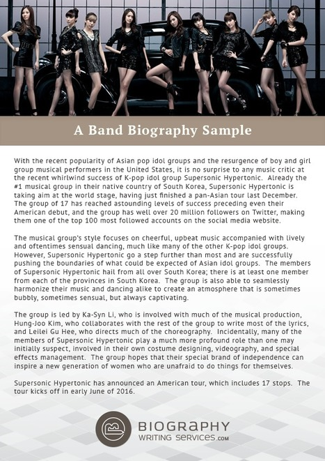 band profile sample pdf