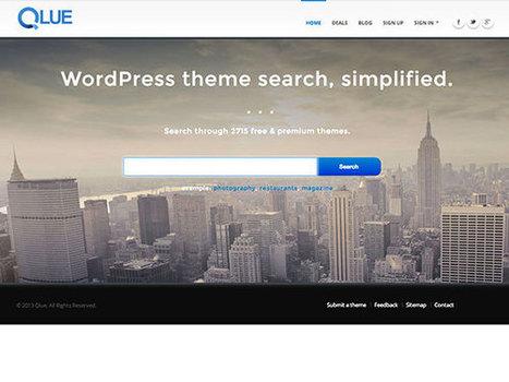 Qlue : un moteur de recherche entièrement dédié à Wordpress et ses thèmes | Vous saurez tous sur wordpress ou presque... | Scoop.it