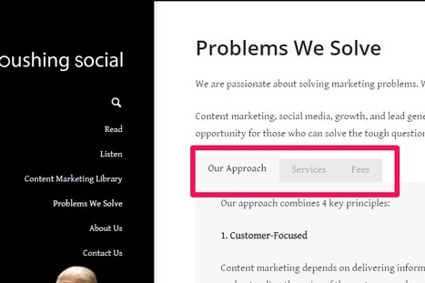 Problems We Solve - Sample Web Page | Content Marketing and Curation for Small Business | Scoop.it