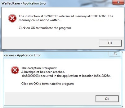 How to repair Werfault exe error in Windows 7,