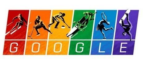 JO de Sotchi : Logo de Google aux couleurs arc-en-ciel de la communauté gay   La veille de generation en action sur la communication et le web 2.0   Scoop.it