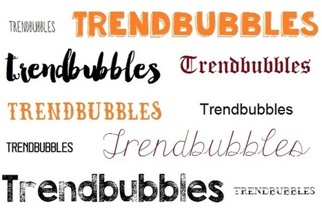 De leukste trendy lettertypes • Trendbubbles | TRENDBUBBLES | Scoop.it