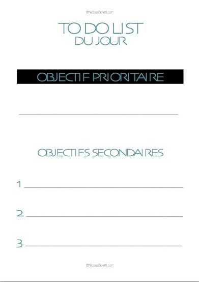 La To Do List la plus simple et la plus efficace du monde | procrastination / stress et gestion du temps | Scoop.it