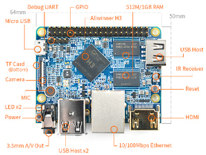Quad-core $11 hacker SBC runs Linux on Allwinner H3 | Open Source Hardware News | Scoop.it