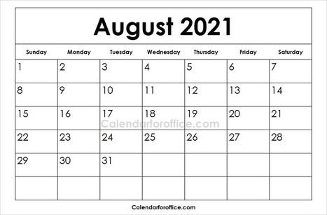 Printable Blank 2021 Calendar In Calendar For Office Scoop It