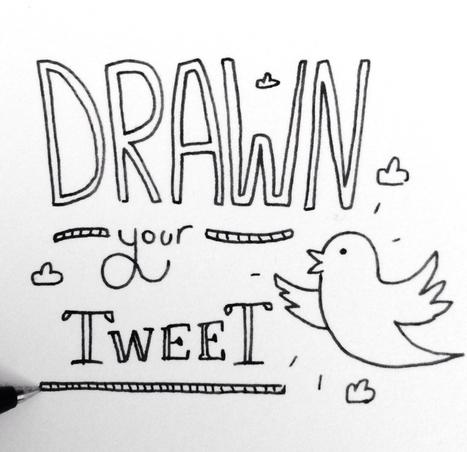 Il dessine les tweets des internautes | twitter : quels usages ? | Scoop.it
