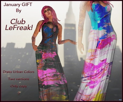 Dress Urban Colors Group Gift by LeFreak! | Teleport Hub - Second Life Freebies | Second Life Freebies | Scoop.it