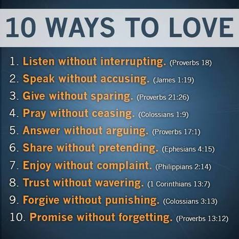 10 Ways to Love | Heath's Show Prep Page | Scoop.it