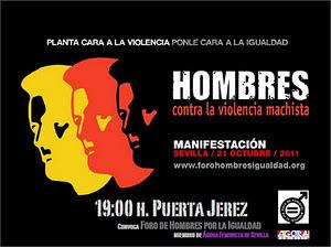 Manifestación hombres por la igualdad en sevilla 21/10 - 19 horas | Cuidando... | Scoop.it