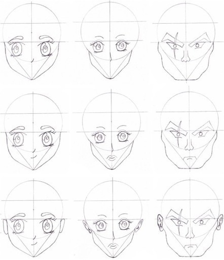 'anime Faces Reference' In Drawing References And Resources