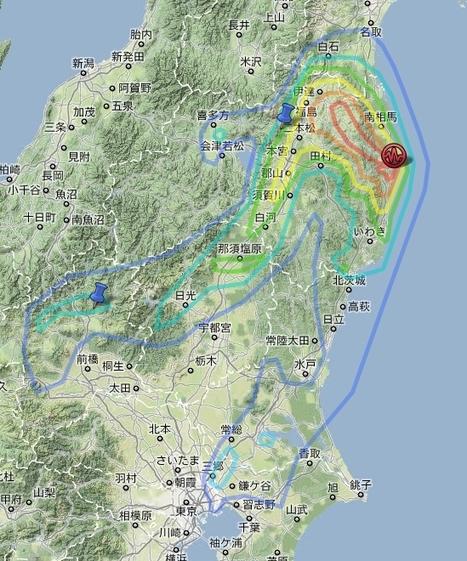 [Eng] Carte de mesures de radioactivité après l'accident de Fukushima |  @hayakawayukio | Japon : séisme, tsunami & conséquences | Scoop.it