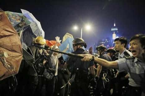Democracy protesters clash with police in Hong Kong | AUSTERITY & OPPRESSION SUPPORTERS  VS THE PROGRESSION Of The REST OF US | Scoop.it