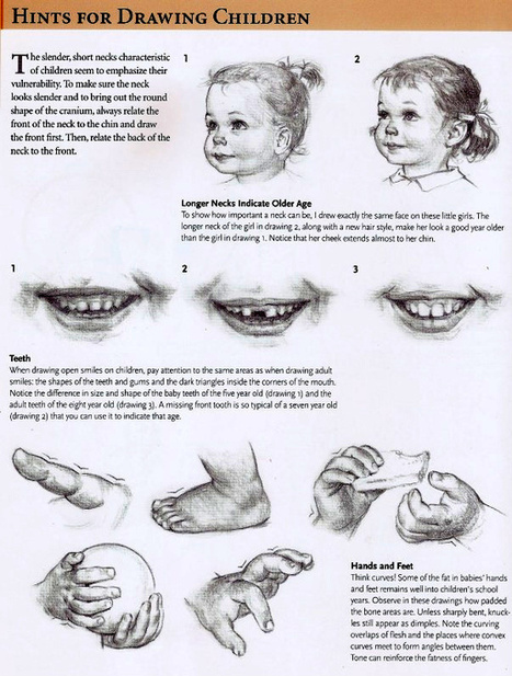 Hints for Drawing Children | Drawing References...