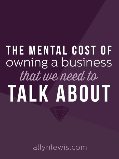 The Mental Cost of Owning a Business That We Need to Talk About - Allyn Lewis | Suicide and depression | Scoop.it